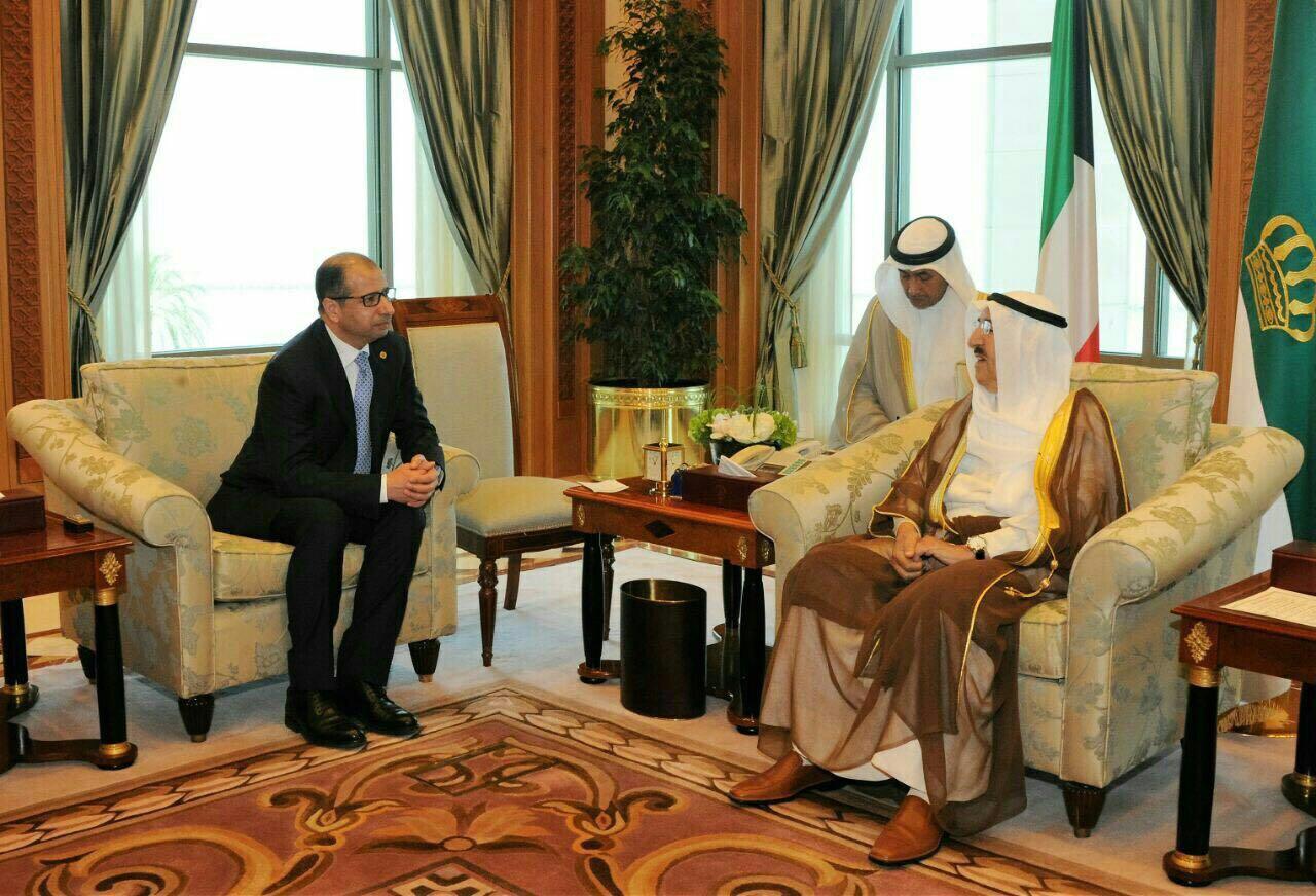 رئيس مجلس النواب يلتقي امير الكويت ويبحث معه الاوضاع السياسيه والامنيه في المنطقه