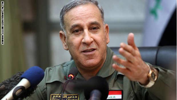 وزير الدفاع يتراجع عن تصريحاته بشأن منع مشاركة البيشمركة