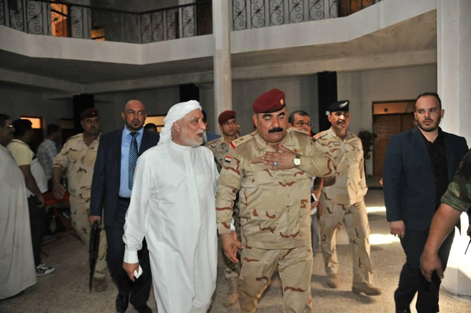الدكتور الهميم وقائد عمليات غرب بغداد يؤكدون التعاون المستمر ، وقرب عودة النازحيين
