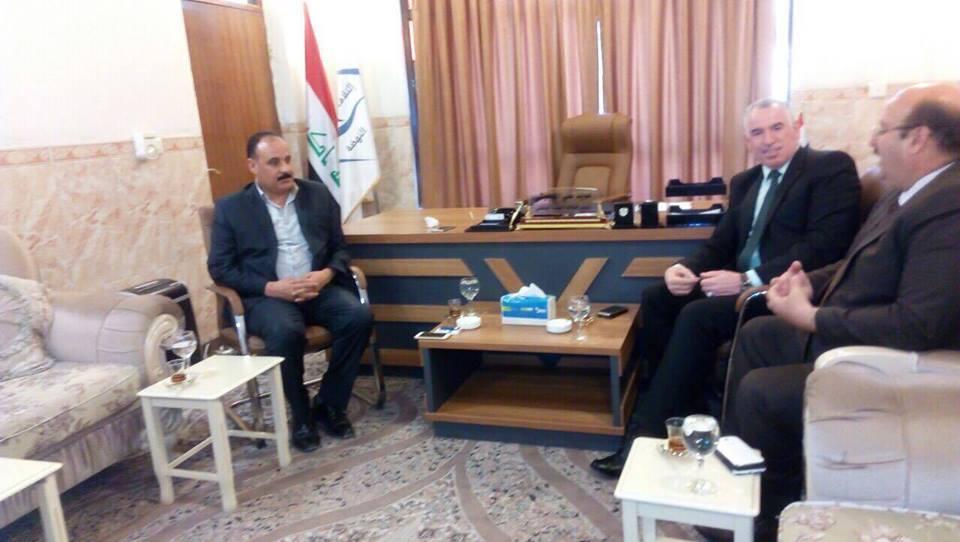 رئيس لجنة إعادة نازحي نينوى يلتقي رئيس لجنة الاوقاف في مجلس المحافظة