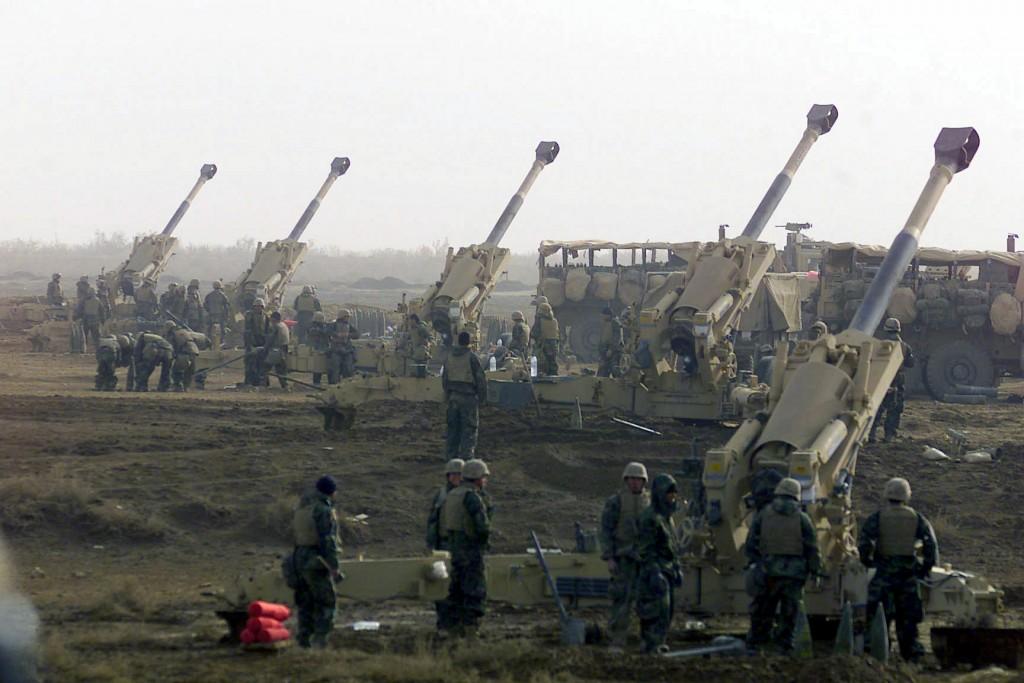 """قوات عراقية وامريكية تبدأ بقصف """"مكثف"""" على الجانب الايسر للموصل"""