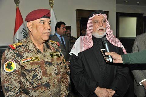 الدكتور الهميم يشيد بدور المؤسسة العسكرية , ويؤكد أن التاريخ سوف يسجل ما قدمته من تضحيات للعراق