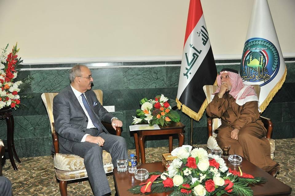 الدكتور الهميم يلتقي سفير العراق الجديد لدى جهورية مصر ويبحث معه طبيعة العلاقات بين الطرفين