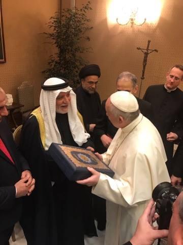 الدكتور الهميم يلتقي بابا الفاتيكان