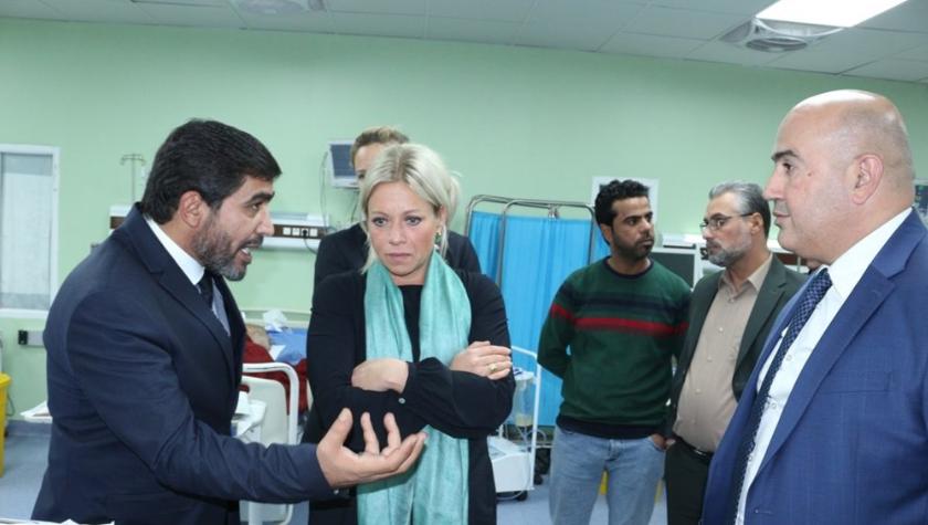 الامم المتحدة تبدي استعدادها لتقديم اي مساعدات طبية او صحية لمستشفى الجملة العصبية