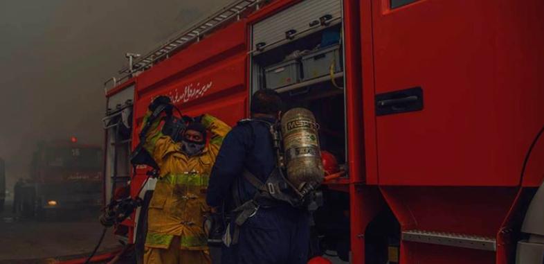 حريق جديد في بغداد و8 فرق اطفاء تحاول احتوائه