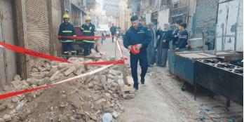 بالصور.. انهيار أجزاء من منزلين في بغداد جراء الأمطار