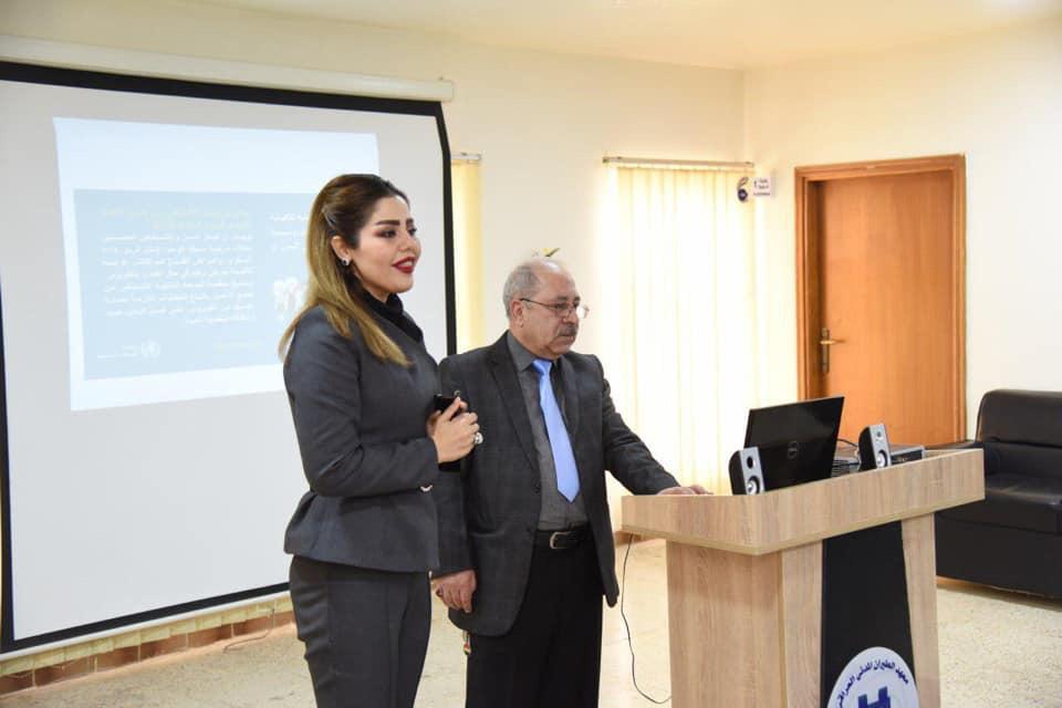 مطار بغداد الدولي يقيم محاضرة طبية لمنتسبيه عن ڤايروس كورونا ….