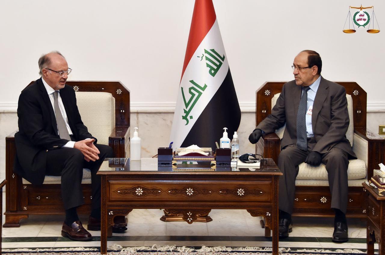 رئيس ائتلاف دولة القانون السيد نوري المالكي يستقبل وزير المالية الجديد
