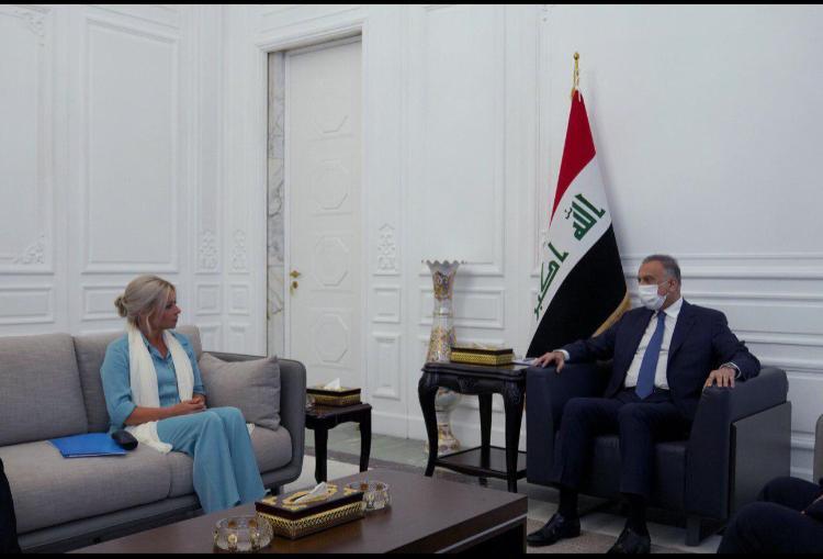 رئيس مجلس الوزراء السيد مصطفى الكاظمي يستقبل ممثلة الأمين العام للأمم المتحدة في العراق