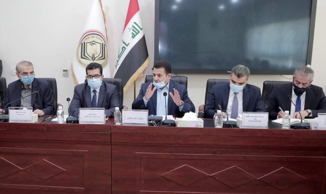 مستشار  الأمن الوطني  قاسم الاعرجي  يتراس  الاجتماع  الموسع  للشروع في  بناء وتجديد  استراتيجية الامن  الوطني  العراقي