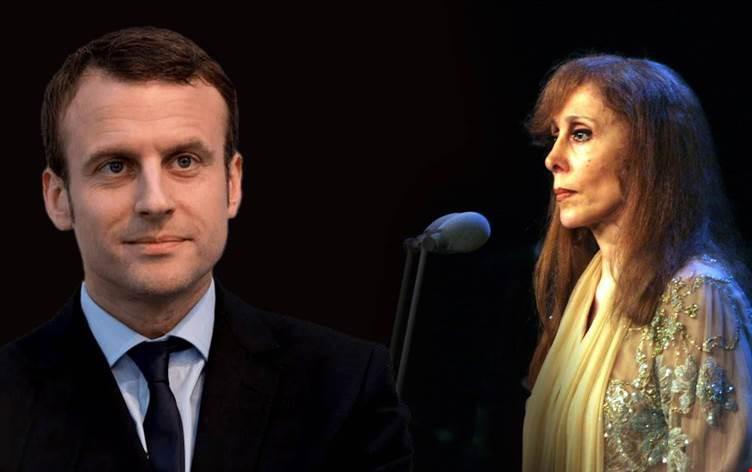لم يكن فنجان القهوة وحده قدمته رئيسة الجمال فيروز، لرئيس فرنسا ماكرون، أنما ثمة هدية أخرى قدمتها له