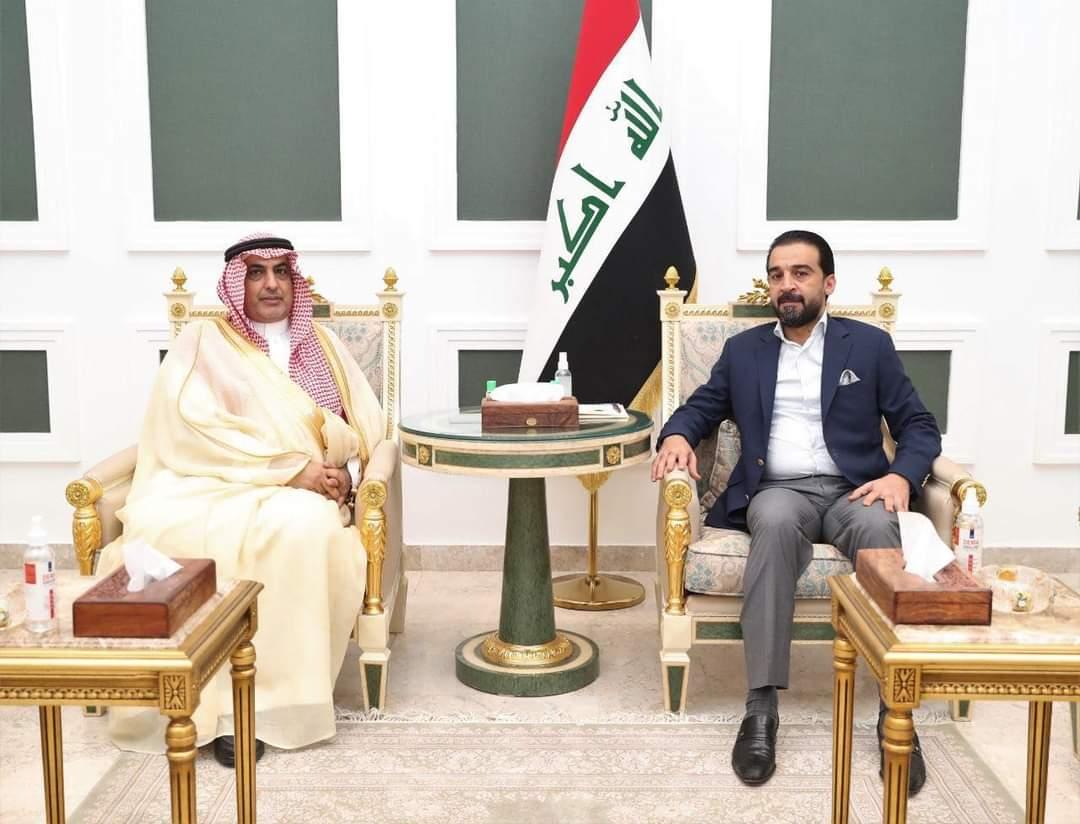 رئيس مجلس النواب محمد الحلبوسي، يستقبل اليوم الأربعاء، سفير المملكة العربية السعودية في العراق السيد عبد العزيز الشمري.
