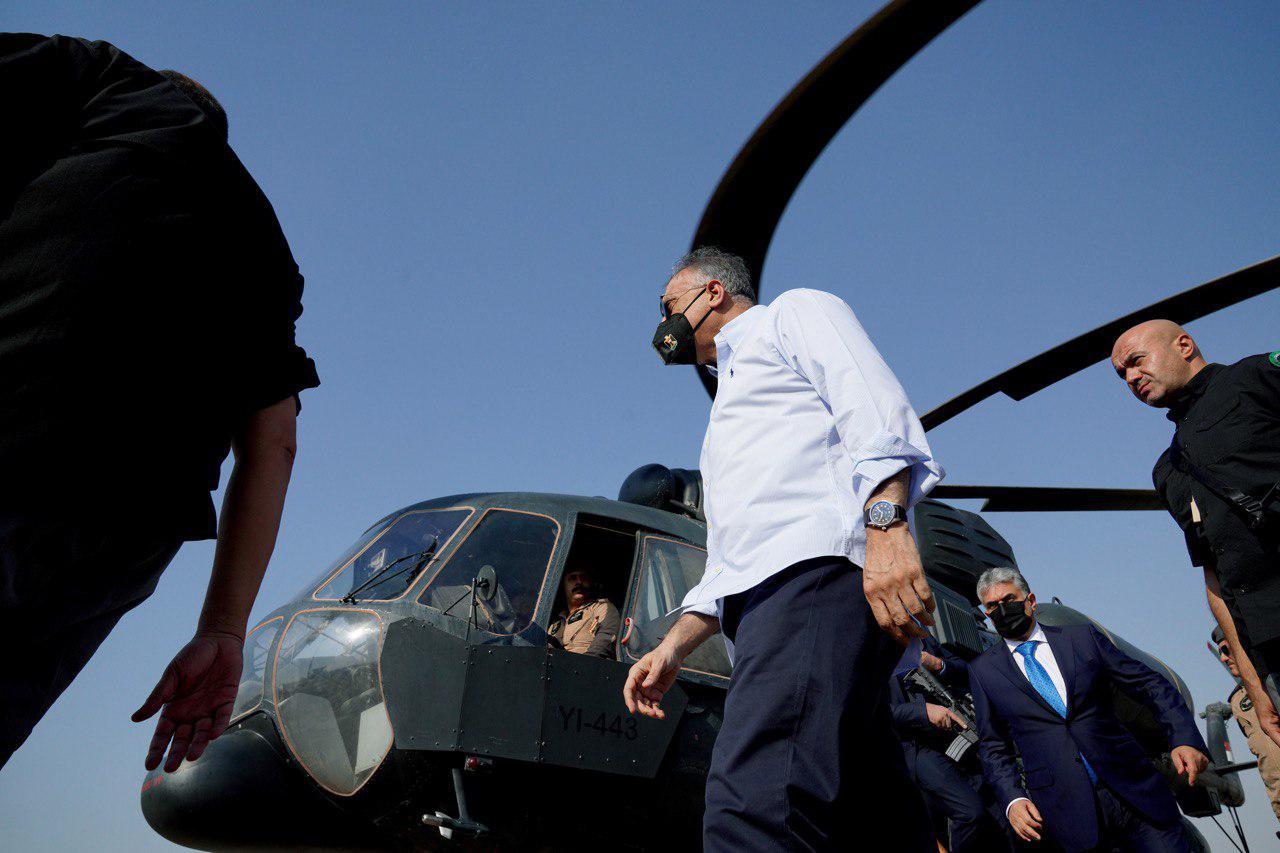 رئيس مجلس الوزراء السيد مصطفى الكاظمي يتفقد مخيم قاديا للنازحين في محافظة دهوك