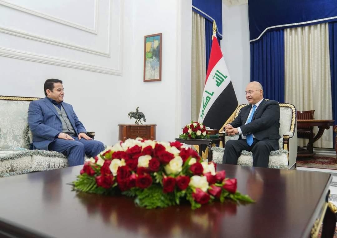 مستشار الأمن القومي السيد قاسم الأعرجي يلتقي رئيس الجمهورية الدكتور برهم صالح
