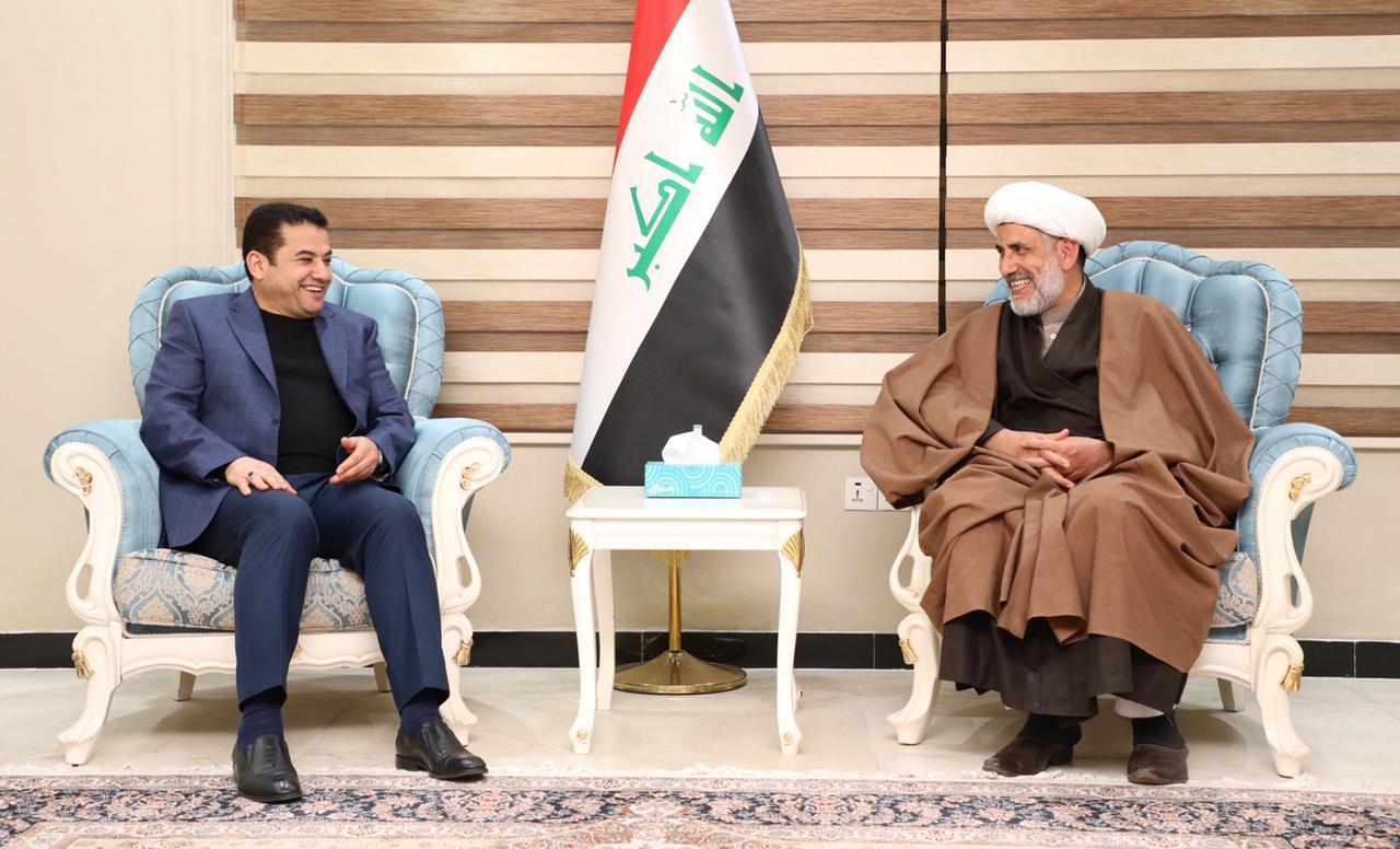 مستشار الأمن القومي السيد قاسم الأعرجي يلتقي الشيخ صلاح العبيدي