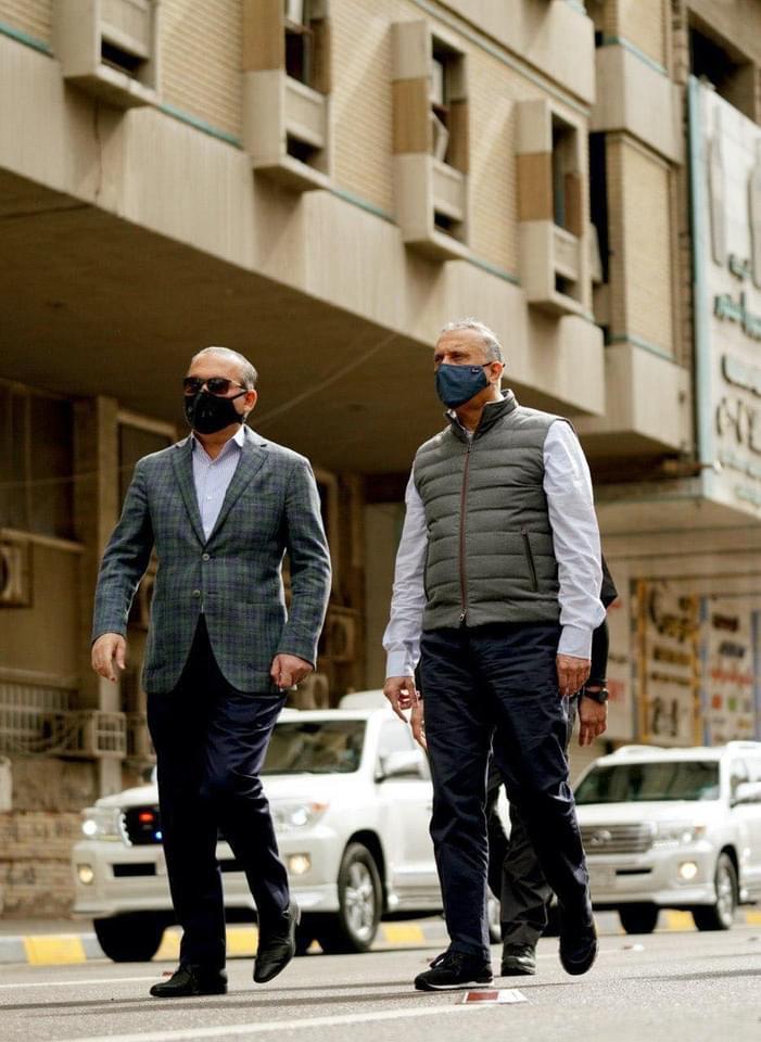 الرئيس ينزل شوارع العاصمة بغداد