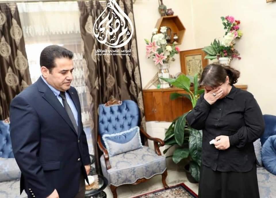 قاسم الأعرجي يزور عائلة الفقيد الدكتور ظافر فؤاد إلياهو ويقدم واجب العزاء