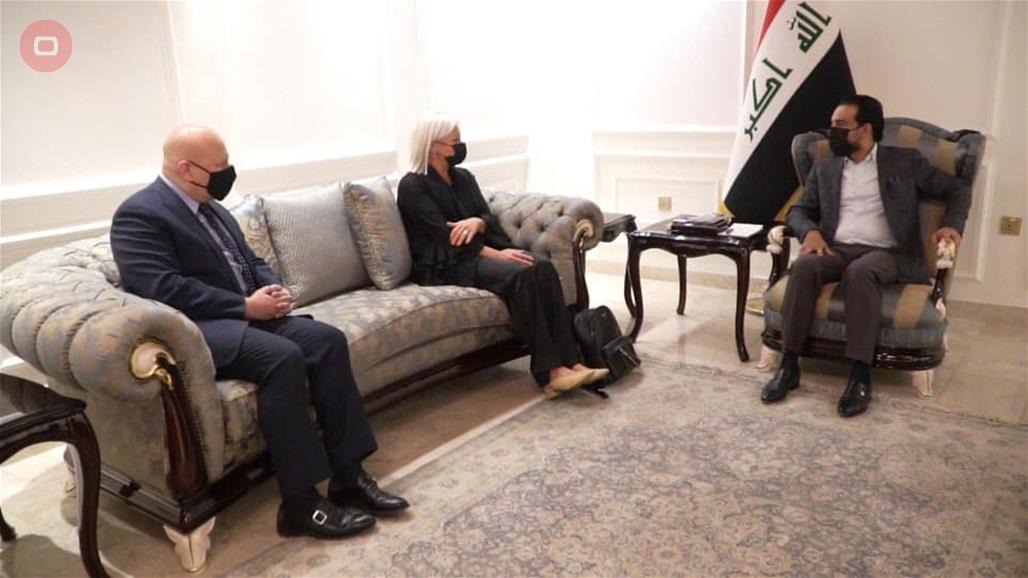 الحلبوسي يبحث مع ممثلي الامم المتحدة مستجدات عمل فريق التحقيق بجرائم داعش