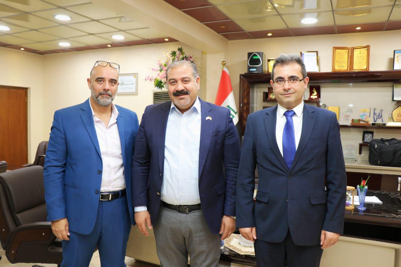 مدير عام شركة المعارض العراقية يلتقي الملحق التجاري اللبناني في العراق