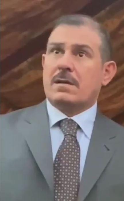 في مجلس العزاء , #علامات الحزن ترتسم على وجه ايقونه الانسانية واب الشهداء #الفريق اول الركن محمد البياتي .