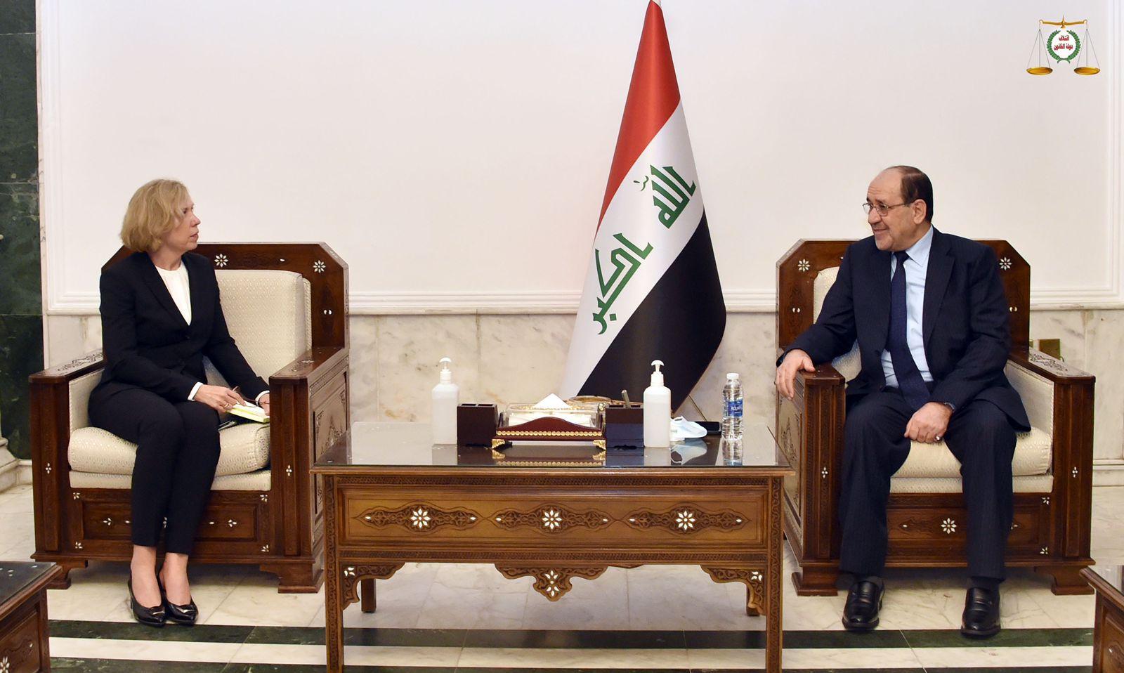 رئيس ائتلاف دولة القانون السيد نوري المالكي يستقبل سفيرة استراليا لدى العراق