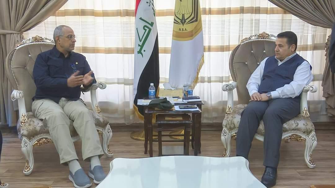 مستشار الأمن القومي السيد قاسم الأعرجي يستقبل قائد عمليات الفرات الأوسط للحشد الشعبي