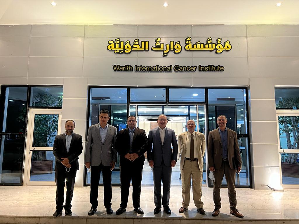 المعمار علاء معن يعلن العلاج المجاني لاطفال بغداد المصابين بامراض الاورام الصلبة واورام الدم في مؤسسة وارث الطبية الدولية في كربلاء المقدسة.